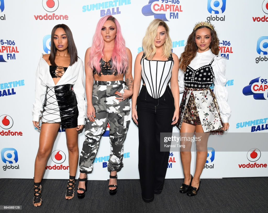 Leigh-Anne Pinnock, Jesy Nelson, Perrie Edwards and Jade Thirlwall of Little Mix attend the Capital Summertime Ball at Wembley Stadium on June 10, 2017 in London, United Kingdom.