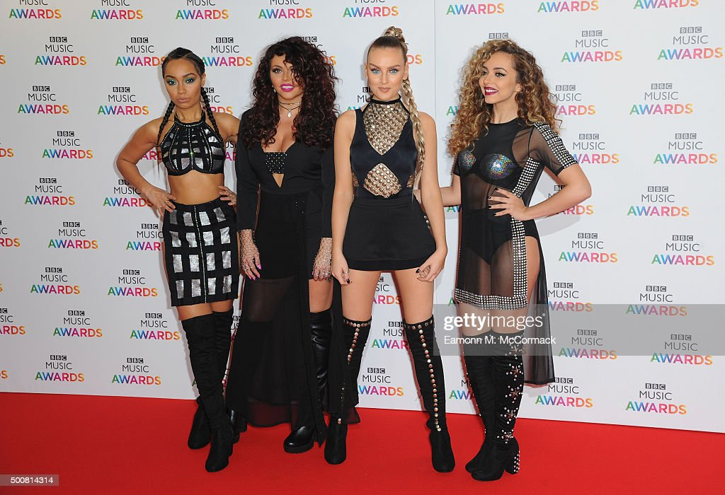 Leigh-Anne Pinnock, Jesy Nelson, Perrie Edwards and Jade Thrillwall of Little Mix attend the BBC Music Awards at Genting Arena on December 10, 2015 in Birmingham, England.