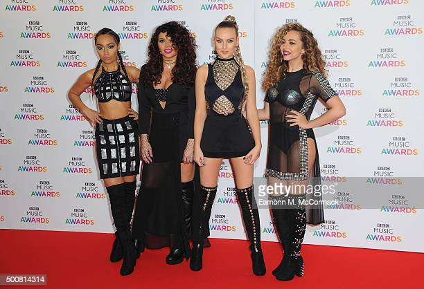 LeighAnne Pinnock Jesy Nelson Perrie Edwards and Jade Thrillwall of Little Mix attend the BBC Music Awards at Genting Arena on December 10 2015 in...