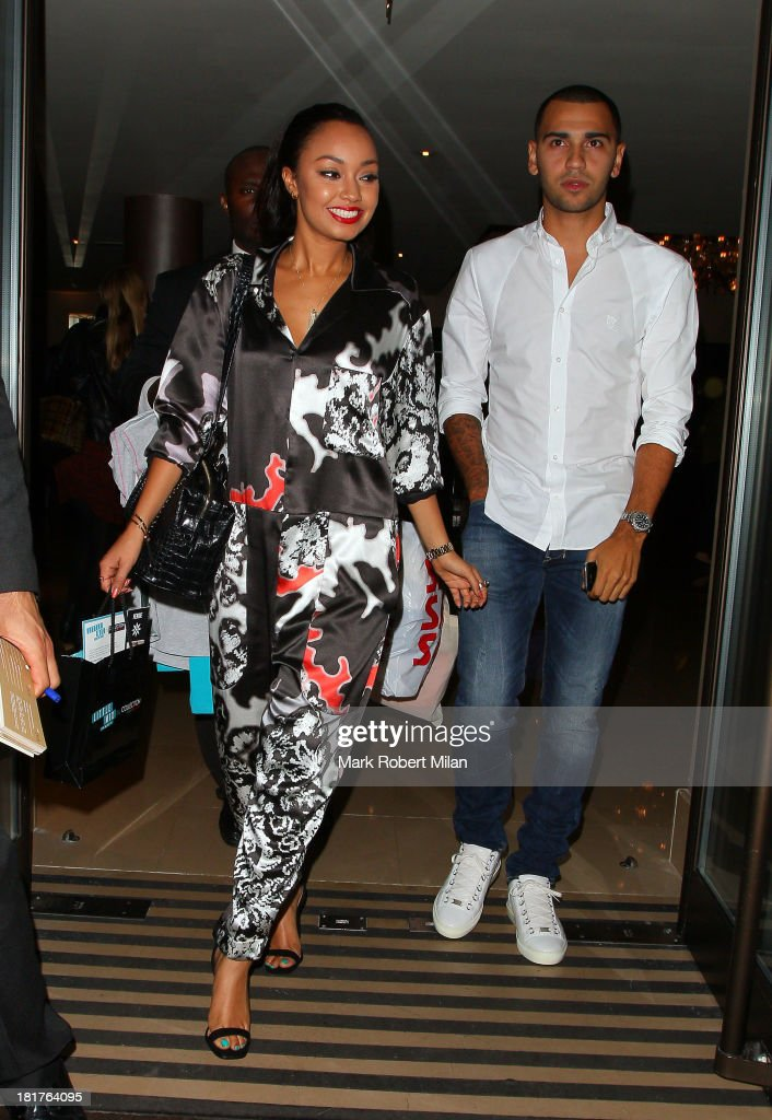 <a gi-track='captionPersonalityLinkClicked' href=/galleries/search?phrase=Leigh-Anne+Pinnock&family=editorial&specificpeople=8378207 ng-click='$event.stopPropagation()'>Leigh-Anne Pinnock</a> leaving the May Fair hotel on September 24, 2013 in London, England.