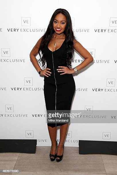 LeighAnne Pinnock of Little Mix attends the Very Exclusive launch party on the first night of London Fashion Week at Watches of Switzerland on...