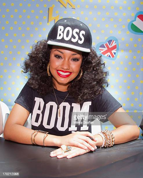 LeighAnne Pinnock of Little Mix is signing autographs at a meet and greet at Shops At Tanforan on June 8 2013 in San Francisco California