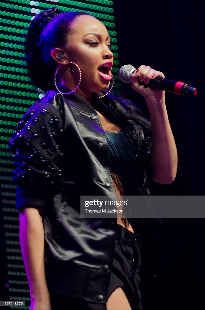 Leigh-Anne Pinnock of Little Mix performs onstage at Metro Radio Live 2012 at Metro Radio Arena on November 30, 2012 in Newcastle upon Tyne, England.