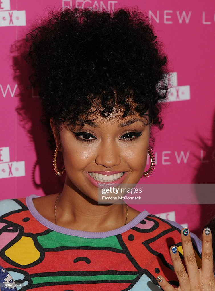 Leigh-Anne Pinnock of Little Mix posea at a photocall to launch their collection of press on nails for New Look at Westfield on April 12, 2013 in London, England.