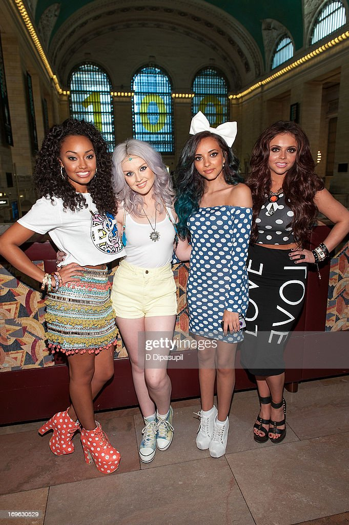 <a gi-track='captionPersonalityLinkClicked' href=/galleries/search?phrase=Leigh-Anne+Pinnock&family=editorial&specificpeople=8378207 ng-click='$event.stopPropagation()'>Leigh-Anne Pinnock</a>, <a gi-track='captionPersonalityLinkClicked' href=/galleries/search?phrase=Perrie+Edwards&family=editorial&specificpeople=8378323 ng-click='$event.stopPropagation()'>Perrie Edwards</a>, <a gi-track='captionPersonalityLinkClicked' href=/galleries/search?phrase=Jade+Thirlwall&family=editorial&specificpeople=8378191 ng-click='$event.stopPropagation()'>Jade Thirlwall</a>, and <a gi-track='captionPersonalityLinkClicked' href=/galleries/search?phrase=Jesy+Nelson+-+Little+Mix&family=editorial&specificpeople=8378192 ng-click='$event.stopPropagation()'>Jesy Nelson</a> of Little Mix visit 'Extra' at Michael Jordan's The Steak House N.Y.C. in Grand Central Terminal on May 29, 2013 in New York City.