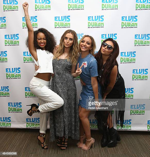 LeighAnne Pinnock Perrie Edwards Jade Thirlwall and Jesy Nelson of Little Mix visit the 'The Elvis Duran Z100 Morning Show' at Z100 Studio on August...