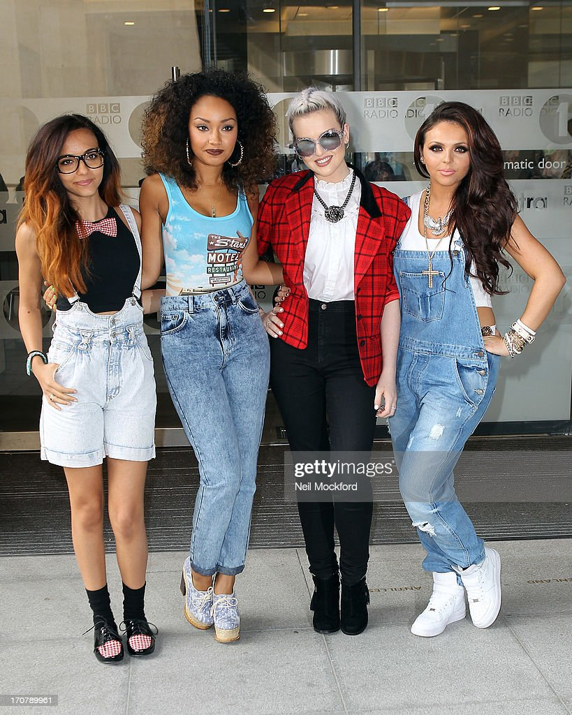 LeighAnne Pinnock Perrie Edwards Jesy Nelson and Jade Thirlwall of Little Mix seen at BBC Radio One on June 18 2013 in London England