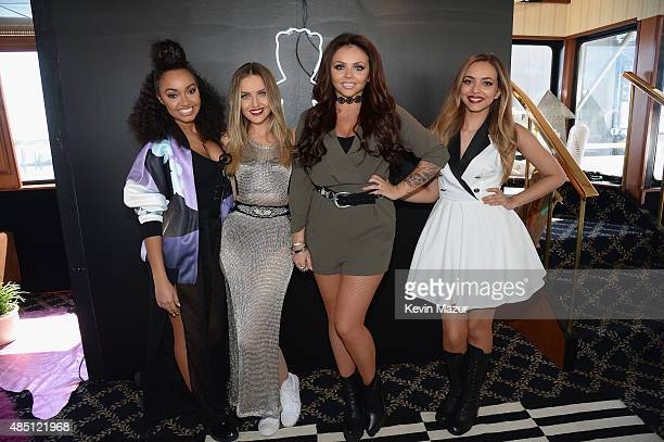 LeighAnne Pinnock Perrie Edwards Jesy Nelson and Jade Thirlwall of Little Mix pose for a photo during Billboard Hot 100 Festival Day 1 at Nikon at...