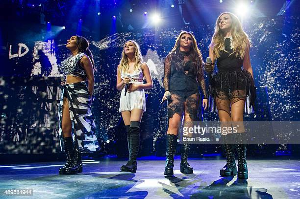 LeighAnne Pinnock Perrie Edwards Jesy Nelson and Jade Thirlwall of Little Mix perform at The Roundhouse on September 22 2015 in London England