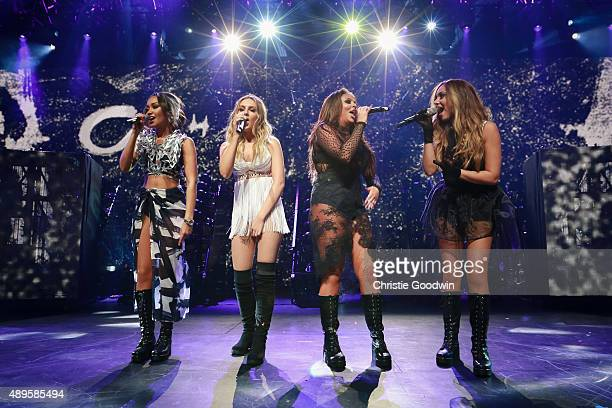 LeighAnne Pinnock Perrie Edwards Jesy Nelson and Jade Thirlwall of Little Mix perform on stage as part of Apple Music Festival at The Roundhouse on...