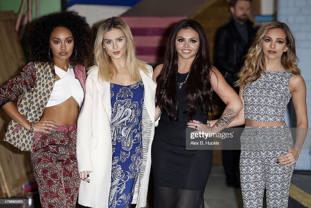 <a gi-track='captionPersonalityLinkClicked' href=/galleries/search?phrase=Leigh-Anne+Pinnock&family=editorial&specificpeople=8378207 ng-click='$event.stopPropagation()'>Leigh-Anne Pinnock</a>, <a gi-track='captionPersonalityLinkClicked' href=/galleries/search?phrase=Perrie+Edwards&family=editorial&specificpeople=8378323 ng-click='$event.stopPropagation()'>Perrie Edwards</a>, <a gi-track='captionPersonalityLinkClicked' href=/galleries/search?phrase=Jesy+Nelson+-+Little+Mix&family=editorial&specificpeople=8378192 ng-click='$event.stopPropagation()'>Jesy Nelson</a>, <a gi-track='captionPersonalityLinkClicked' href=/galleries/search?phrase=Jade+Thirlwall&family=editorial&specificpeople=8378191 ng-click='$event.stopPropagation()'>Jade Thirlwall</a> of Little Mix at the ITV Studios after appearing on This Morning on March 21, 2014 in London, England.