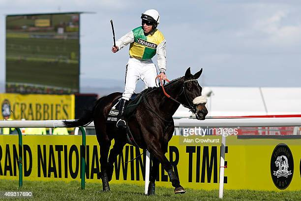 Leighton Aspell riding Many Clouds win The Crabbie's Grand National Steeple Chase on Crabbie's Grand National day at Aintree racecourse on April 11...
