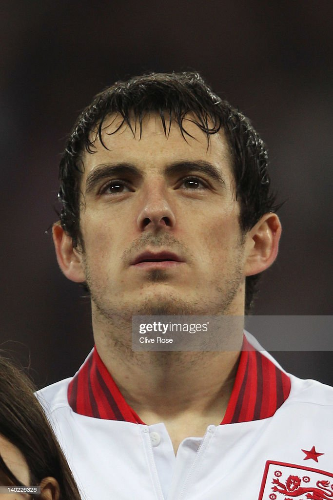 Leighton Baines of England looks on prior to the international friendly match between England and Netherlands at Wembley Stadium on February 29, 2012 in London, England.