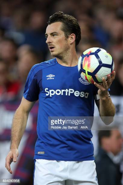 Leighton Baines of Everton during the UEFA Europa League Qualifying PlayOffs round first leg match between Everton FC and Hajduk Split at Goodison...