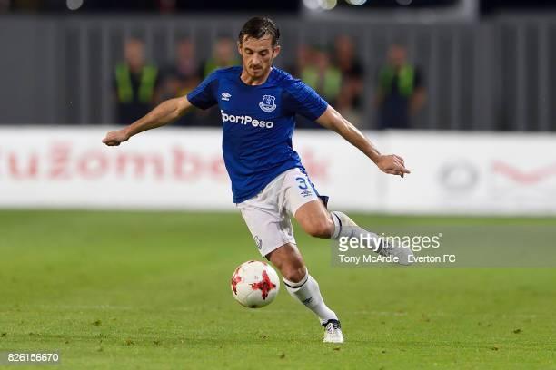 Leighton Baines of Everton during UEFA Europa League Qualifier match between MFK Ruzomberok and Everton on August 3 2017 in Ruzomberok Slovakia