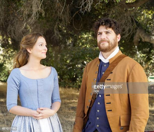 Leighton Meester and Adam Pally in the 'The Shot Heard Round The World' episode of MAKING HISTORY airing Sunday March12 on FOX