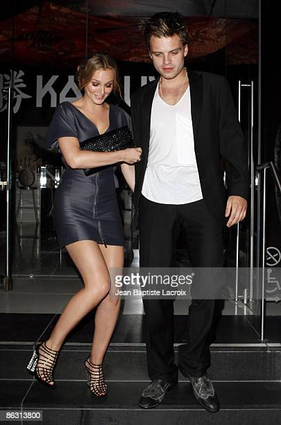 Leighton Meester and Sebastian Stan sighting on April 30 2009 in Hollywood California