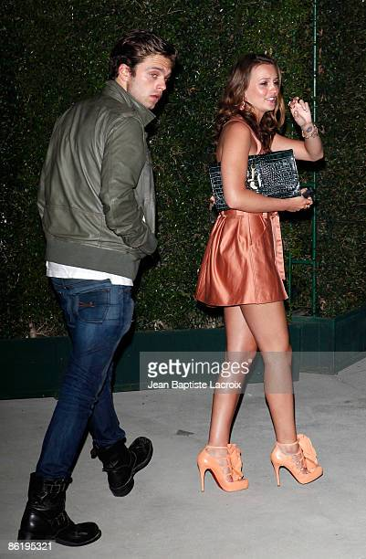 Leighton Meester and Sebastian Stan sighting on on April 23 2009 in Hollywood California