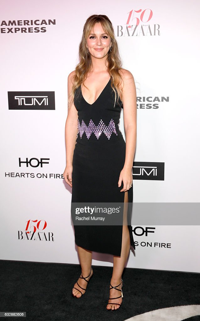 Leighton Meester attends Harper's BAZAAR celebration of the 150 Most Fashionable Women presented by TUMI in partnership with American Express, La Perla and Hearts On Fire at Sunset Tower Hotel on January 27, 2017 in West Hollywood, California.