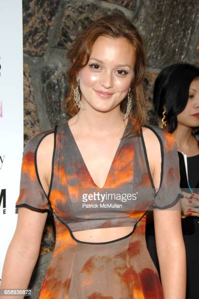Leighton Meester attends 'SPREAD' Premiere with GOTHAM HAMPTONS magazines at UA East Hampton Theater on August 8 2009 in East Hampton NY