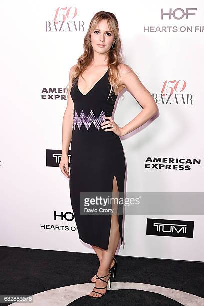 Leighton Meester attends the Harper's Bazaar Celebrates 150 Most Fashionable Women Arrivals at Sunset Tower on January 27 2017 in West Hollywood...