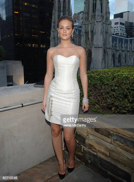 Leighton Meester attends the Piaget Hosts The Limelight ParisNew York Collection event at The Loft and Garden at Rockefeller Center on August 7 2008...