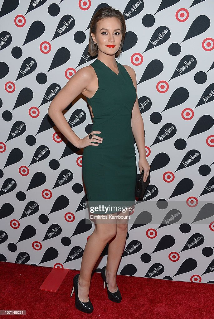 <a gi-track='captionPersonalityLinkClicked' href=/galleries/search?phrase=Leighton+Meester&family=editorial&specificpeople=3947554 ng-click='$event.stopPropagation()'>Leighton Meester</a> attends the Target + Neiman Marcus Holiday Collection launch event on November 28, 2012 in New York City.