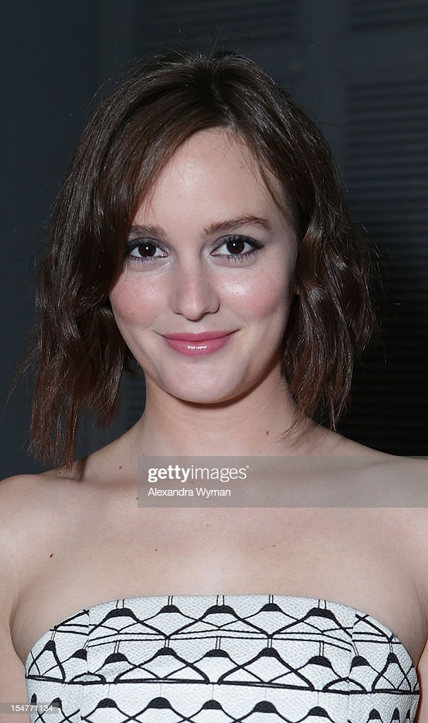 Leighton Meester hosts Flaunt Magazine Fetes Latest Issue With Diesel Black Gold & Stetson Bourbon held at Ink on October 25, 2012 in Los Angeles, California.