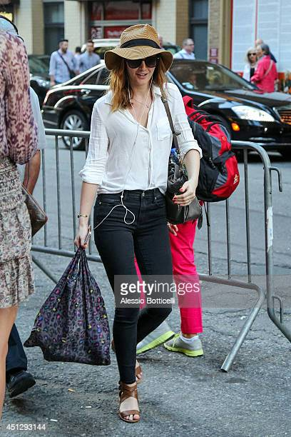 Leighton Meester is seen walking in Midtown on June 26 2014 in New York City