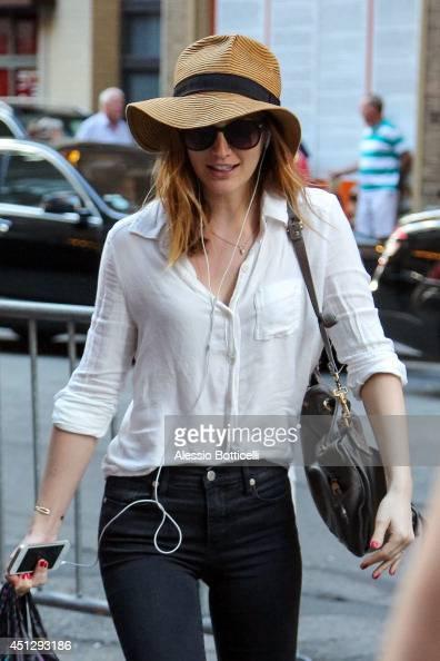 Leighton Meester is seen walking in Midtown on June 26 2014 in New York City