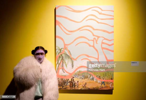 Leikeli47 attends BACARDI Swizz Beatz and The Dean Collection bring NO COMMISSION back to Miami to celebrate 'Island Might' at Soho Studios on...