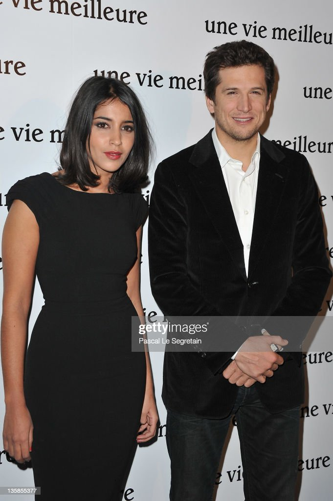 Leila Bekhti (L) and Guillaume Canet (R) attend 'Une Vie Meilleure' Paris Premiere at Cinema Max Linder on December 15, 2011 in Paris, France.