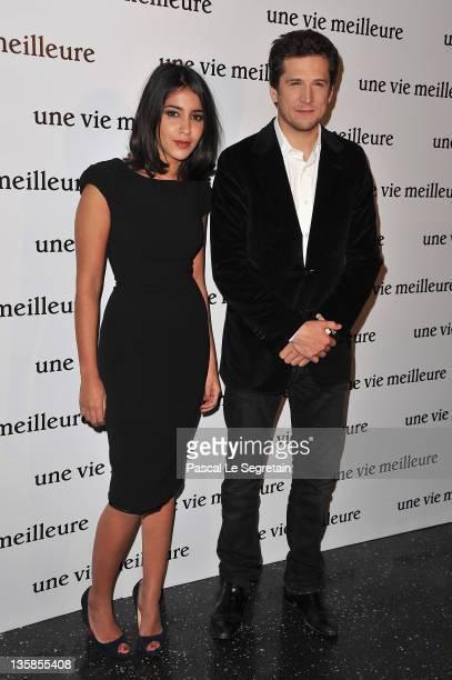 Leila Bekhti and Guillaume Canet attend 'Une Vie Meilleure' Paris Premiere at Cinema Max Linder on December 15 2011 in Paris France