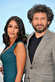 Leila Bekhti and Radu Mihaileanu at the photo call of 'La source des femmes The source' during the 64th Cannes International Film Festival