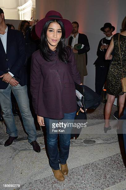 Leila Bekhti attends the 40th FIAC Exhibition Preview the Orange Cocktail At Le Grand Palais on October 23 2013 in Paris France