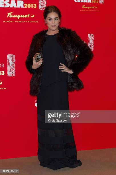 Leila Bekhti attends the Cesar Film Awards 2013 at Le Fouquet's on February 22 2013 in Paris France