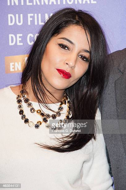Leila Bekhti attends the closing ceremony of the 17th L'Alpe D'Huez International Comedy Film Festival on January 18 2014 in L'Alpe d'Huez France