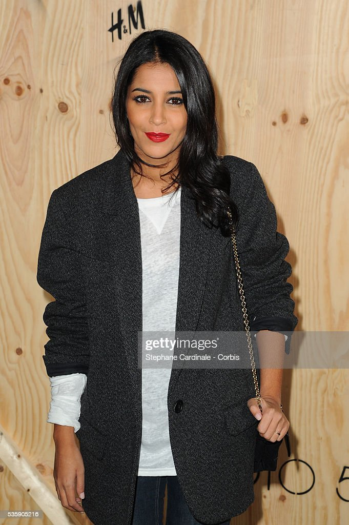 Leila Bekhti attends the 'Isabel Marant For H&M' Photocall at Tennis Club De Paris, in Paris.