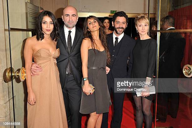 Leila Bekhti Herve Mimran Geraldine Nakache Manu Payet and Audrey Lamy attend the 36th Cesar Film Awards at Theatre du Chatelet on February 25 2011...