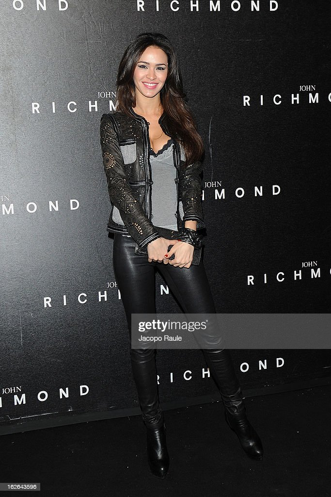 Leila Ben Khalifa attends the John Richmond fashion show as part of Milan Fashion Week Womenswear Fall/Winter 2013/14 on February 25, 2014 in Milan, Italy.