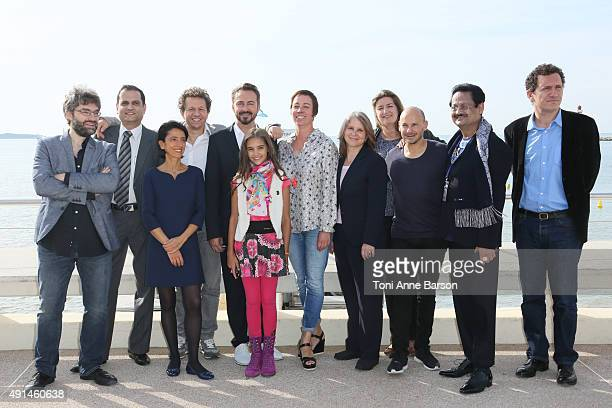 Leila Cenk attends 'Seven Me' photocall as part of MIPCOM 2015 on La Croisette on October 5 2015 in Cannes France