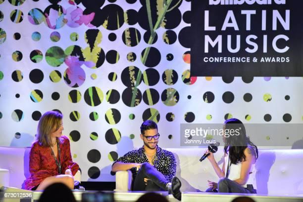 Leila Cobo Maluma and Griselda Flores during The Billboard Latin Music Conference Awards Socializing Maluma panel at Ritz Carlton South Beach on...