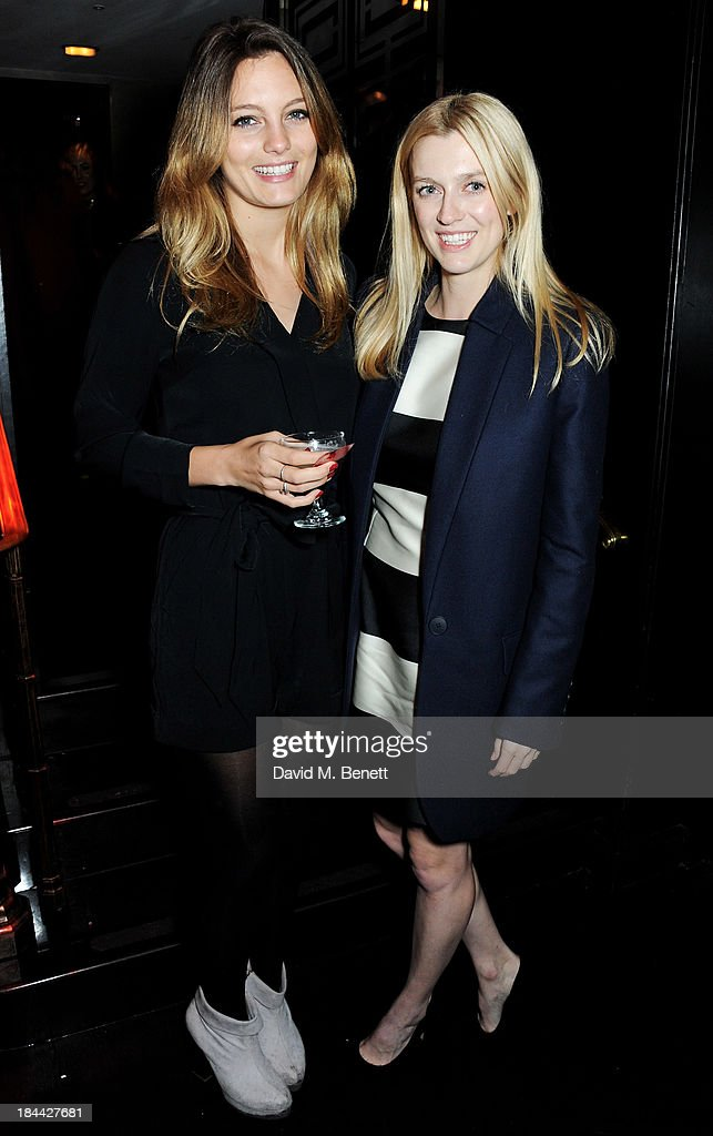 Leila George D'Onofrio (L) and director Gracie Otto attend a post-screening party for 'The Last Impresario' during the 57th BFI London Film Festival at The Arts Club on October 13, 2013 in London, England.