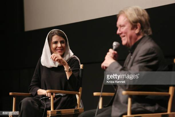 Leila Hatami and Godfrey Cheshire attend Daricheh Cinema NY Features Special Guest Leila Hatami at IFC Center on August 23 2017 in New York City