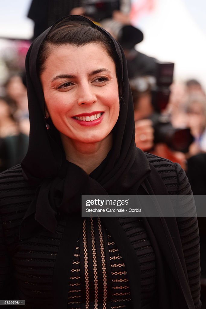 Leila Hatami at the red carpet for the Palme D'Or winners during 67th Cannes Film Festival