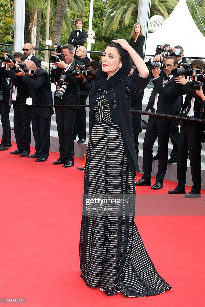 Leila Hatami attends the red carpet for the Palme D'Or winners at the 67th Annual Cannes Film Festival on May 25, 2014 in Cannes, France.