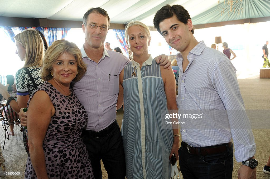Leila Heller, Patrick Stubgen, Dana Hammond and Alexander Heller attend the ISSA London lunch celebrating British fashion and fashion illustration at the Tent at Soho Beach House on December 5, 2013 in Miami Beach, Florida.