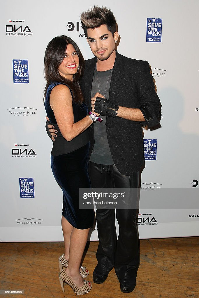 Leila Lambert and Adam Lambert attend the VH1 Divas After Party To Benefit The VH1 Save The Music Foundation at The Shrine Auditorium on December 16, 2012 in Los Angeles, California.
