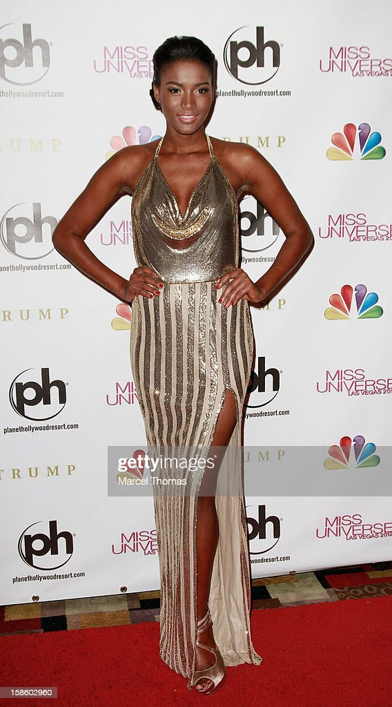 Leila Lopes 2011 Miss Universe arrives at the 2012 Miss Universe Pageant at Planet Hollywood Resort & Casino on December 19, 2012 in Las Vegas, Nevada.