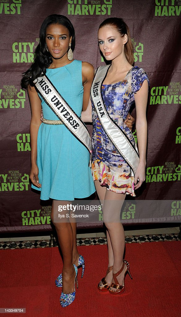 Leila Lopes and Alyssa Campanella attend 18th annual An Evening of Practical Magic at Cipriani 42nd Street on April 24 2012 in New York City
